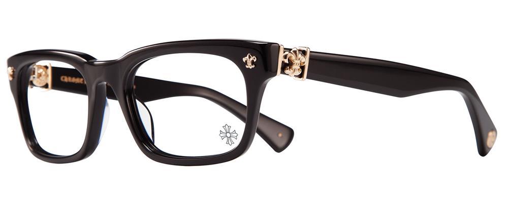 眼鏡・サングラス, サングラス CHROME HEARTS GITTIN ANY? -A BLACK-GOLD PLATED 52-19-145 2020 Eyewear Glasses