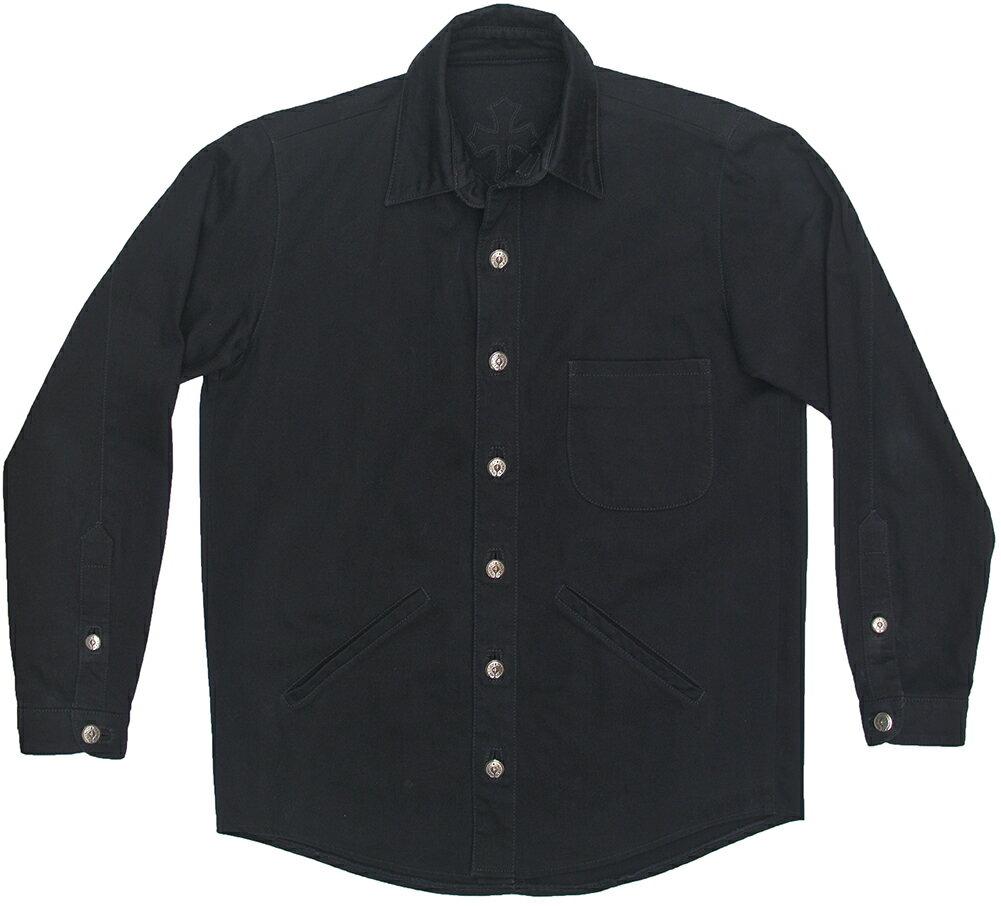 トップス, カジュアルシャツ CHROME HEARTS MENS BLACK DENIM JACKET