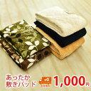 【1000円ポッキリ】<色・柄おまかせ> あったか 敷きパッド 冬用 シングルサイズ 約1