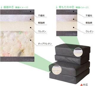 1人掛け組立式ソファ専用【クッションのみ】