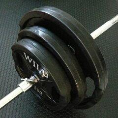 プレート全体がラバーコーティング!30kg 50kg 70kg 100kg 140kg黒ラバーバーベルダンベルセット...