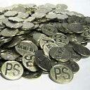 【ポイントバック祭対象】パチスロ 実機 メダル500枚 サイズ25φ 統一柄/洗浄済みコイン【中古】