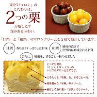 和栗と甘栗2種の栗が2層で楽しめます