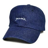 THRASHER/スラッシャーGONZMAGLOGODENIMSPORTSCAPキャップSTRAPBACKCAP6パネルキャップデニムストラップバックキャップ帽子メンズレディースユニセックスストリートスケート【RCP】
