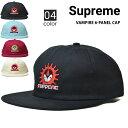 【クーポン利用で最大2000円OFF】 Supreme シュプリーム VAMPIRE 6-PANEL CAP キャップ 6パネルキャップ 帽子 スナップバックキャップ メンズ レディース ストリート スケート SUPREME