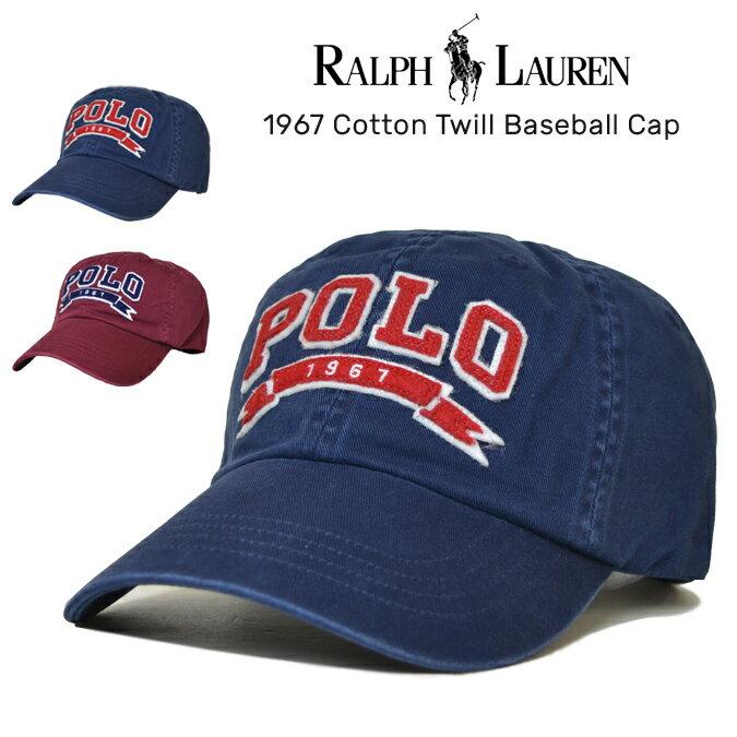 【割引クーポン配布中】 POLO Ralph Lauren ポロ ラルフローレン 1967 Cotton Twill Baseball Cap キャップ 帽子 6-PANEL CAP 6パネルキャップ スモールポニー メンズ レディース ユニセックス