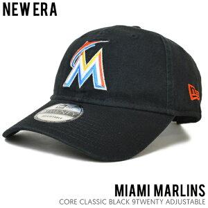 【割引クーポン配布中】 NEW ERA CAP ニューエラ キャップ CORE CLASSIC 9TWENTY 帽子 ストラップバックキャップ 6パネルキャップ ベースボールキャップ MLB MIAMI MARLINS メンズ レディース ユニセックス NEWERA