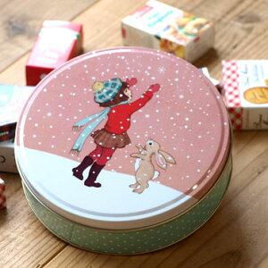 イギリス Belle&Boo ベルアンドブー クリスマス ラウンド缶