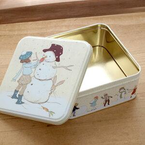 イギリス Belle&Boo ベルアンドブー クリスマス スクエア缶 M