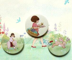 イギリス Belle&Boo 缶バッジセット−バースデーサプライズ[メール便対象品]