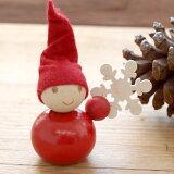 フィンランド Aarikka アーリッカ TONTTU 木製人形-雪の結晶