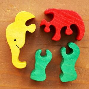 木製小さなパズルオブジェ動物ハンガリーFAUNAファウナ出産祝いやお誕生日にインテリア