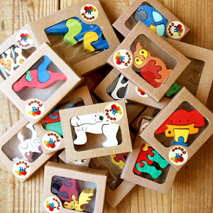 FAUNA社の木製パズルオブジェ