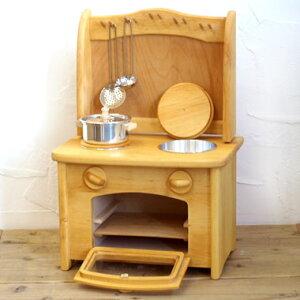 ままごと キッチン 木製 おもちゃ ナチュラル 木のおもちゃ Gluckskafer グリュックスケーファー ままごとキッチン オーブン・シンク
