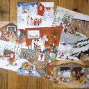Christmasスウェーデン Skandinavisk.H社 クリスマスポストカード8枚セット