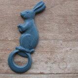 Made in Japan日本制南部鐵器兔子的開瓶器32519[日本製 南部鉄器 うさぎの栓抜き]