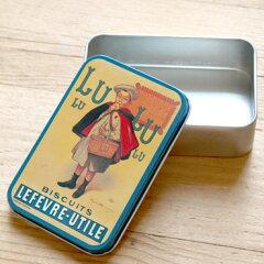 フランス製 アンティークソープボックス缶‐LUビスケット