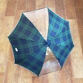 【SALE】傘 キッズ ブラックウォッチ 女の子 男の子 子供 45cm 50cm 55cm 透明窓付き