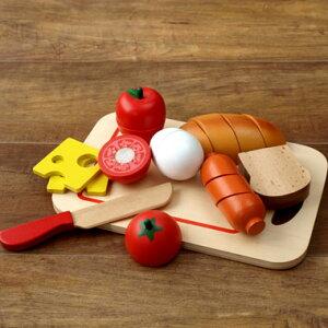 ままごとセット食材おもちゃ木製キッチン野菜まな板包丁お料理女の子誕生日ニュークラシックトイズNewClassicToysままごとおもちゃブレックフゼスト