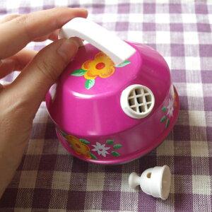 SchopperKG社のままごと鍋セット-ピンク花柄