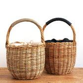 【SALE】カゴバッグ バケツ 内布付き かごバッグ アラログ 籐 バケツ型バッグ レディース