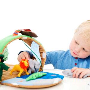 布おもちゃドールハウス動物園人形ごっこ遊び女の子男の子出産祝い誕生日かわいいスウェーデンOskar&ellenオスカー&エレンワイルドアニマルパーク