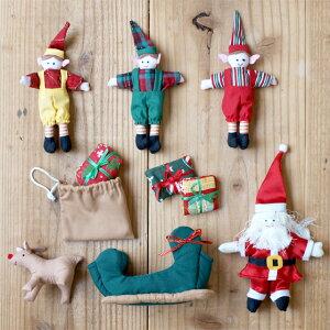 布おもちゃドールハウスサンタの家クリスマスかわいい人形遊び出産祝いスウェーデンOskar&ellenオスカー&エレン