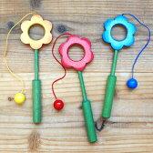 けん玉 おもちゃ 木製 子供 知育玩具 木のおもちゃ 誕生日 玉入れ かわいい ドイツ Ostheimer オストハイマー 木製 お花のけん玉
