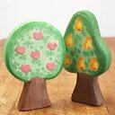Ostheimer オストハイマー 木製 フィギュア リンゴとナシの木...