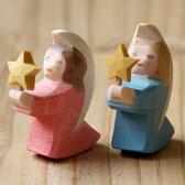 Ostheimer オストハイマー 木製フィギュア 星と天使