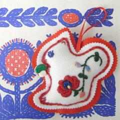 Bahar ハンガリー刺繍フェルトマスコットキット-リス MS-02