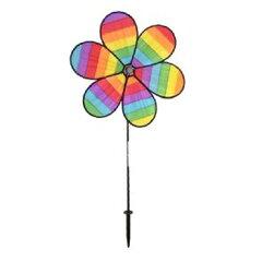 インザブリーズ社 レインボースピナー風車-フラワー ITB2828