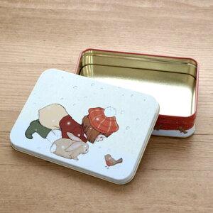 イギリス Belle&Boo ベルアンドブー クリスマス スクエア缶 S
