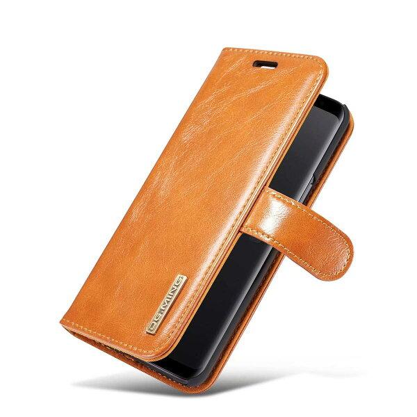 GalaxyS7edge手帳型ケースカバー背面ケース両用2way分離式付け外し自由レザー合皮マグネット固定ケース取り外し カード
