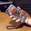 【 送料無料 / メール便 】 iPhone8 iPhone7 SE iPhone6s ケース カバー ブランド風 刺繍 バラ……