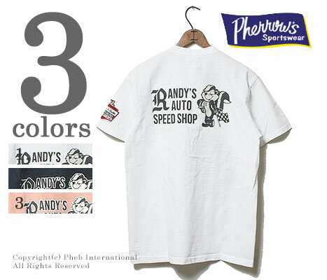 フェローズ/PHERROW'S(PHERROWS) ''RANDY'S AUTO''Tシャツ(15S-PT3)
