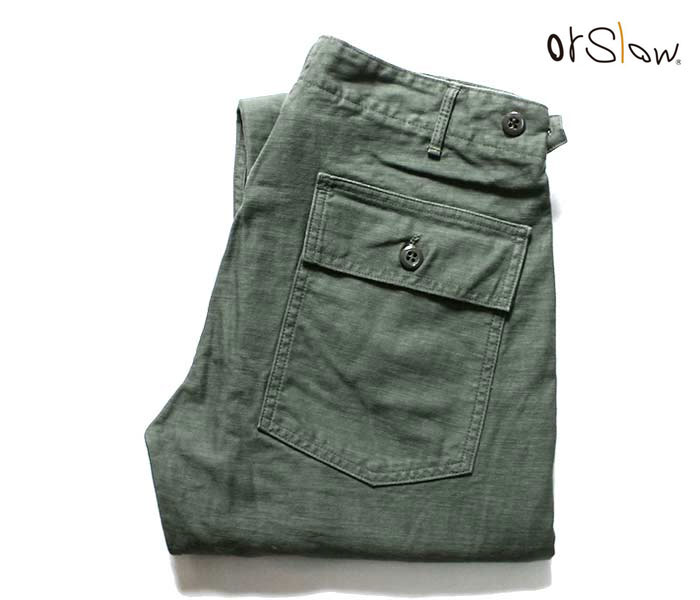 メンズファッション, ズボン・パンツ ( 7) orSlow 5032 5032 US ARMY FATIGUE PANTS Zipper Fly MADE IN JAPAN (01-5032)