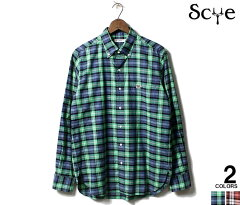 Scye Basics Plaid Buttondown Shirt 5120-31506