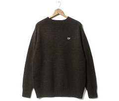 Shetland Wool Crewneck Sweater 5120-13600: Chestnut