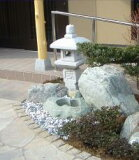 【送料無料】【代引不可】織部灯篭3尺(御影石)坪庭などに最適の灯篭です♪