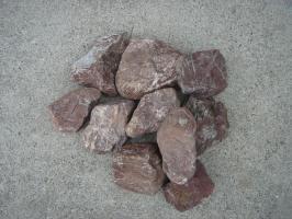 【送料無料】三重の赤石土留めセットお試し10石セットです♪お庭のアクセントや土留めに♪玉砂利とのしきりに・・・庭石のことなら当店におまかせ^^【ガーデニング資材】