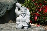 【送料無料】縁起の良い大黒天[俵1個]【石の彫刻品】高さ 約29cm