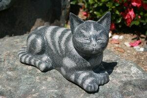 【送料無料】【新商品】御影石の猫【ネコのオーナメント】