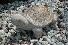 【縁起物】石の亀【送料無料】亀は【万年】長寿のシンボル石の彫刻品でできたかわいぃ亀さんです玉砂利や庭石の上などにもピッタリ♪【亀のオーナメント】