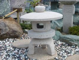 古代雪見(1.5尺・丸型/サビ石)日本庭園の定番商品!!こちらのサイズは坪庭や玄関まわりなどにピッタリです♪:小さな石屋さん