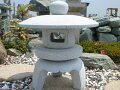 【送料無料】古代雪見燈籠(2尺・丸型)