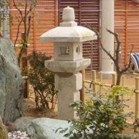 【送料無料】織部灯篭2.5尺(錆び色)坪庭などに最適の灯篭です♪