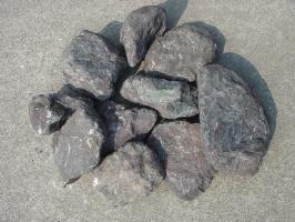 【送料無料】紫雲石(土留めセット)お庭のアクセントや土留めに♪玉砂利とのしきりに・・・使い方色々の紫雲石10石セットです♪庭石のことなら当店におまかせ^^【ガーデニング資材】