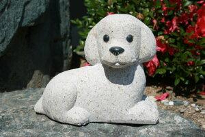 【送料無料】トイプードル犬(錆石)【石の置物・オーナメント】