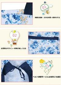【再入荷】花柄デザインエプロン(MD-2)激安apron3D柄かわいいファッションお洒落なエプロン韓国風キッチン防水